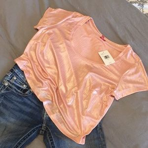 Guess Tinsley Metallic Top